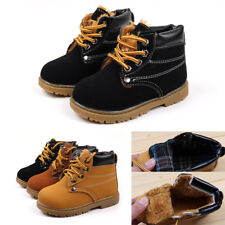 Baby Kids Child Boys Girls Winter Casual Warm Ankle Snow Boots Fur Shoes Size
