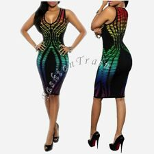 Sexy Women's Sleeveless Bodycon Evening Party Clubwear Cocktail Clubwear Dress