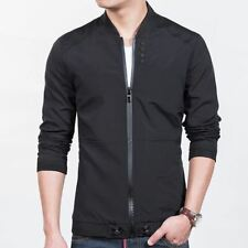 New Fashion Solid Color Casual Wear Slim Fit Stand Collar Jacket for Men