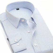 Solid Color Turn-down Collar Long Sleeved Casual Office Wear Shirt For Men