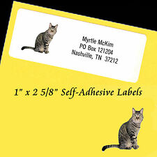 "Personalized Address Labels CAT Self-Adhesive 1"" x 2 5/8"" Laser"