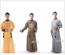 Chinese Traditional Qing Dynasty Emperor Prince Dramaturgic Theatrical Play Dres