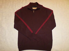DKNY JEANS SWEATER MENS SIZE XXL 1/4 ZIP DARK BROWN COLOR LONG SLEEVES NEW NWT