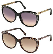 Roberto Cavalli Tania Crystal-Tipped Butterfly Sunglasses Made In Italy RC979S