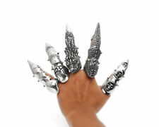 Gothic Punk Rock Biker Pewter Full Finger Claw Armor Ring