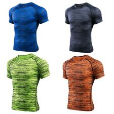 Mens Compression Baselayer Body Thermal Under Tight Skin T-Shirt Tight Gear Top