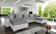 Huge Modern Fabric Double Corner Sofabed Double Bed The London Brand New Sofa