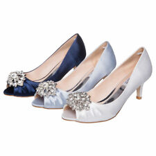 SheSole Womens Crystal Wedding Bridal Evening Prom Shoes Comfort Heels Pumps