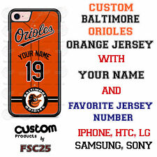 Custom Baltimore Orioles Orange Jersey Phone Case w/ Your Name & # for iPhone