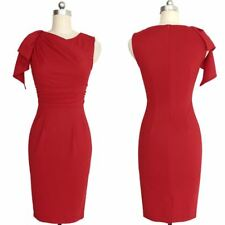 Women New Fashion Ruffle Sleeve Ruched Fitted Stretch Pencil Midi Dress