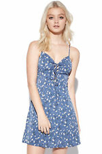 New LUCK & TROUBLE Womens Daisy Laces Dress Blue