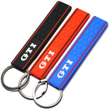 1PC Silicone GTI Logo Emblem Badge Car Keychain Key Ring for VW Golf Polo