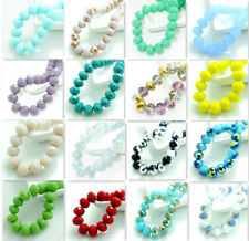 Wholesale  20pcs Rondelle Faceted Crystal Glass Loose  Spacer  Beads 10mm DIY