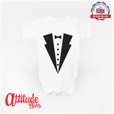 Suit & Bow Babygrow 100% Cotton Baby Clothing Vest - Attitude Baby