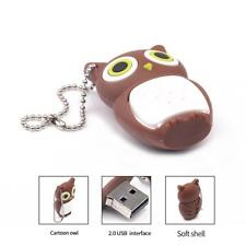 Memory Stick Cute USB Flash Drive Lovely Owl Pen Drive Cartoon Model Brown