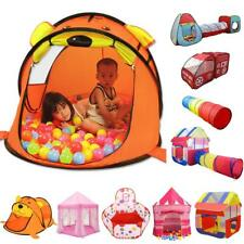 Foldable Kids Baby Pop Up Tunnel Play Tents Castle Playhouse Ball Pit Hut Toys