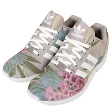 adidas Originals ZX Flux W Grey Flower Womens Running Shoes Sneakers AQ3067