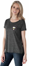 Peanuts Snoopy Woodstock Juniors T-Shirt - Gray