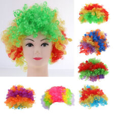 Colorful Afro Wig Circus Clown Costume Halloween Cosplay Party Curly Hair Wig