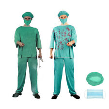 Zombie Doctor Costume Bloody Doctor Adult Mens Outfit Halloween Fancy Dress Up