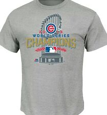 Chicago Cubs ☆ Locker Room Shirt ☆ 2016 World Series Champions Official Majestic