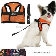 Pet Dog cats Adjustable Harness Lead Leash with Clip Dog Vest Clothes Collar