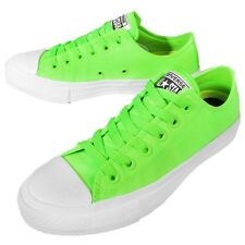 Converse Chuck Taylor All Star II Neon Green White Mens Casual Shoes 151122C
