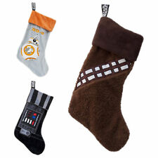 Star Wars Christmas Stocking Darth Vader BB-8 Chewbacca Official Fleece New UK