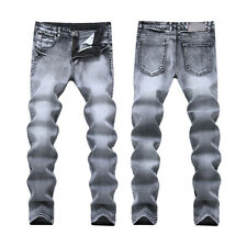 Fashion Casual Mens Stylish Designed Straight Slim Fit Jeans Trousers Slim Pants