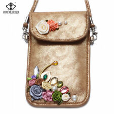 Beautiful Shoulder Bag Wallet Purse Woven Coin Cell Phone Case Mobile Bag Pouch
