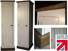 White Painted & Waxed Wardrobe, Single 1 Door All Hanging Robe, Rustic Pine Robe