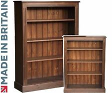 Solid Pine Bookcase, 4ft x 3ft Handcrafted & Waxed Display Shelving, Bookshelves