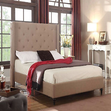 Upholstered Bed Frame Bedroom Furniture Headboard Queen Full King Twin Size