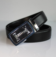 Fashion Luxury Casual Mens Belt Automatic Buckle Genuine Leather Waistband Strap