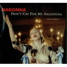 MADONNA - Dont Cry For Me Argentina - CD - Single Import Maxi - **SEALED/ NEW**