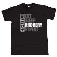 Eat Sleep Archery Repeat, Mens Funny Archery T Shirt, Gift Dad