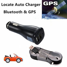 Locate Auto GPS Bluetooth Dual Port Car Charger For Samsung Galaxy S7 S6 Note 5
