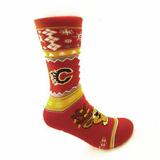 Calgary Flames NHL Holiday Knit Crew Socks