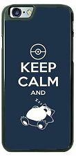 Keep Calm and Cat Sleep Funny Phone Case Cover for iPhone 6s Samsung s7 HTC