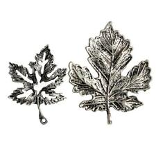 10x Maple Tree Leaves Leaf Charms Pendant Antique Style for Jewelry Making Craft