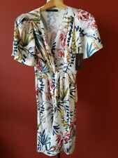 NWT ZARA SS17 BOTANICALTROPICAL PRINTED WRAP DRESS WITH KNOT XS BLOGGER STYLE
