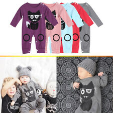 Kids Baby Boy Girl Clothes Long Sleeved Warm Romper Jumpsuit Clothing Bodysuit