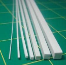 2 pcs ABS Styrene Plastic Square Bar Rods Width 0.5 to 5mm *250mm White