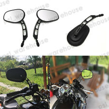 Edge Cut Rear View Side Mirrors For Harley Sportster Softail Touring Dyna