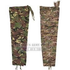 Kids British Camo Combat Cargo Work Trousers Military Army Pants Airsoft Boys