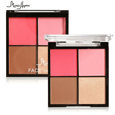 4 Colors Blush-Contour Makeup Cosmetic Blush Blusher Palette Makeup Powder Kit
