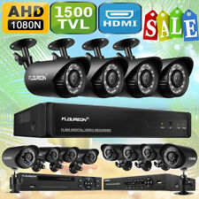 4CH/8CH 1080N AHD DVR 1500TVL Cameras Home CCTV Security Surveillance System Kit