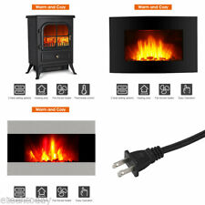 750/1500W Adjustable Electric Fireplace Portable Stove Heater Flame Stand Wall