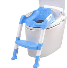 Baby Toddler Potty Toilet Trainer Safety Seat Chair Step with Adjustable Ladder