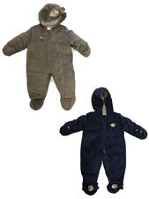 NEW - Carters Baby Snowsuit Bunting Pram Navy Blue Fleece Lined - Pick Color
